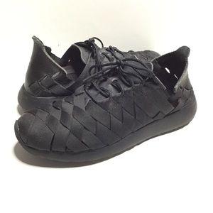 Nike Roshe Run Woven Black SNEAKERS 555257-001